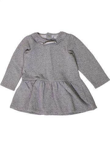 Robe fille VERTBAUDET gris 3 ans hiver #1401350_1