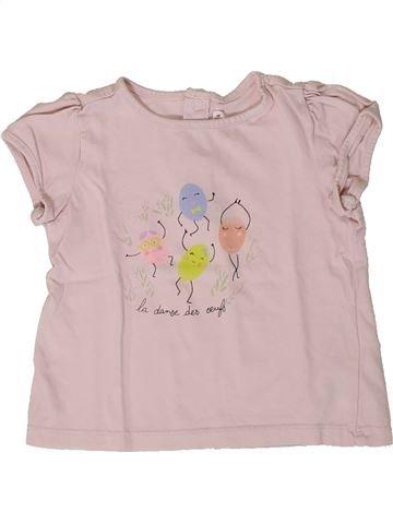 T-shirt manches courtes fille DPAM rose 18 mois été #1401377_1