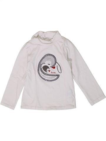 T-shirt col roulé fille OKAIDI blanc 2 ans hiver #1401388_1