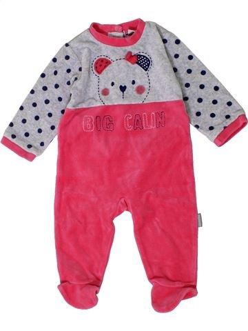Pyjama 1 pièce fille ABSORBA rose 6 mois hiver #1401427_1