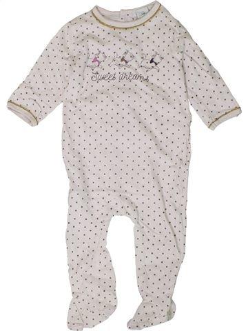 Pyjama 1 pièce fille DISNEY blanc 12 mois été #1401437_1