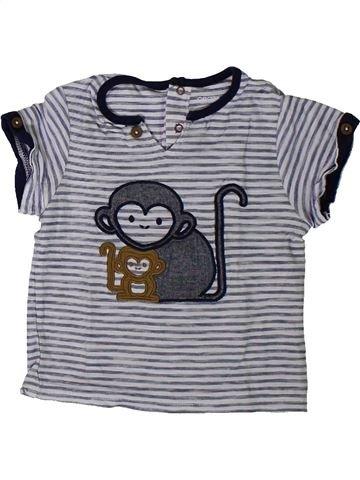 Camiseta de manga corta niño OKAIDI gris 12 meses verano #1401448_1