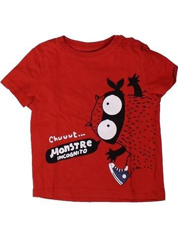T-shirt manches courtes garçon LIBERTO rouge 12 mois été #1401451_1