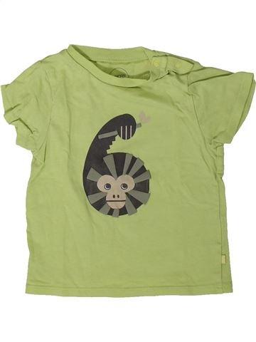 T-shirt manches courtes garçon OKAIDI vert 12 mois été #1401455_1
