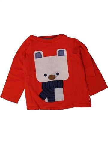 T-shirt manches longues garçon OKAIDI rouge 12 mois hiver #1401466_1
