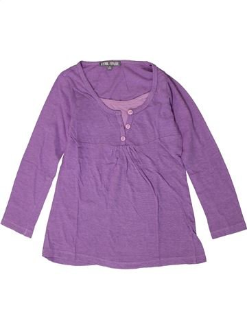 T-shirt manches longues fille VYNIL FRAISE violet 8 ans hiver #1401496_1