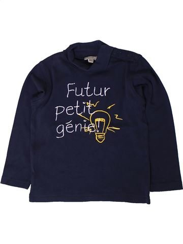 T-shirt col roulé garçon GRAIN DE BLÉ noir 3 ans hiver #1401521_1