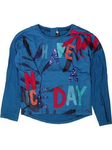 T-shirt manches longues fille CATIMINI bleu 6 ans hiver #1401554_1