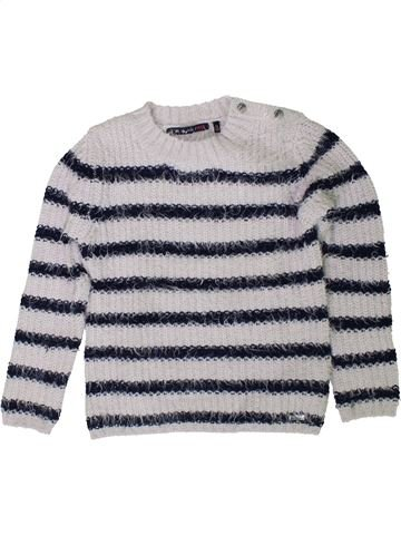 Pull fille IKKS gris 8 ans hiver #1401587_1
