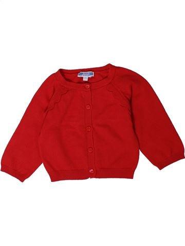 Chaleco niña JACADI rojo 12 meses invierno #1401605_1