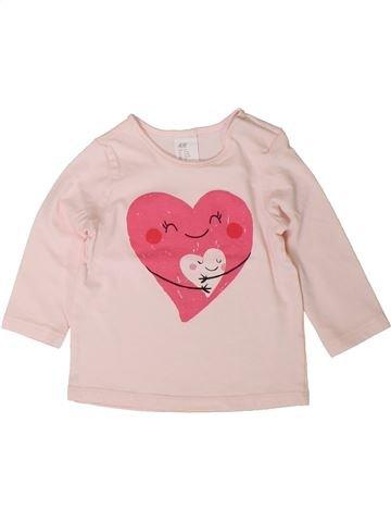 Camiseta de manga larga niña H&M violeta 9 meses invierno #1401609_1