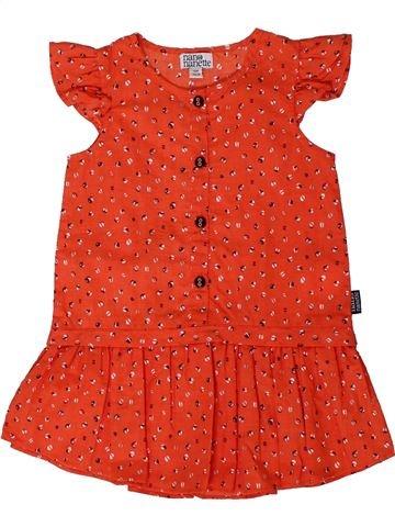Robe fille NANO & NANETTE rouge 12 mois été #1401610_1