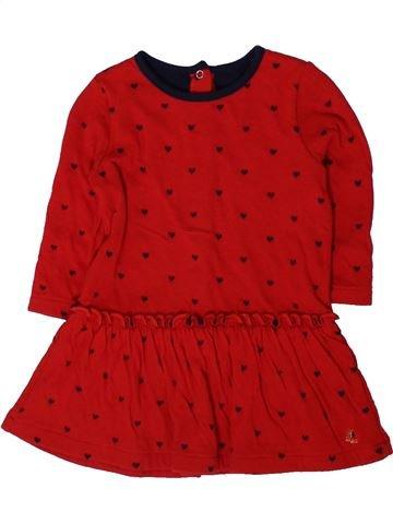 Robe fille PETIT BATEAU rouge 12 mois hiver #1401614_1