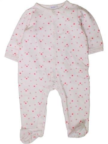 Pijama de 1 pieza niña BOUT'CHOU blanco 12 meses invierno #1401616_1