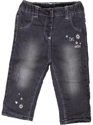 Jean fille ORCHESTRA gris 9 mois hiver #1401638_1