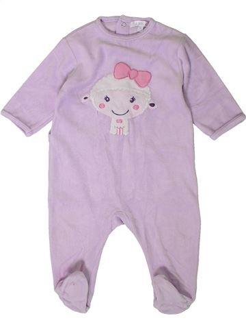 Pijama de 1 pieza niña KIABI rosa 9 meses invierno #1401655_1