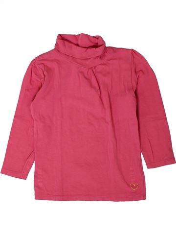 T-shirt col roulé fille KIDKANAI rose 4 ans hiver #1401659_1