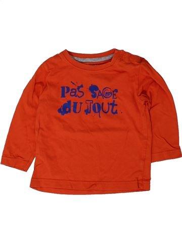 T-shirt manches longues garçon KIDKANAI rouge 18 mois hiver #1401671_1