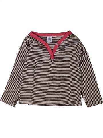 Camiseta de manga larga niña PETIT BATEAU gris 2 años invierno #1401686_1