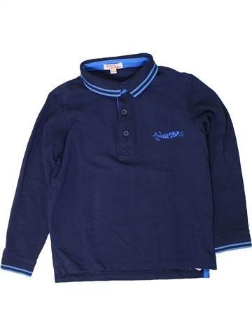 Polo manches longues garçon DPAM bleu 6 ans hiver #1401699_1