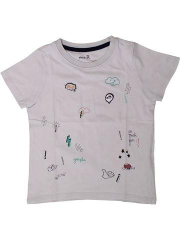T-shirt manches courtes garçon LA REDOUTE CRÉATION gris 4 ans été #1401764_1
