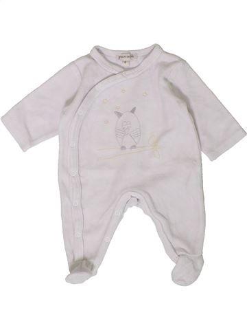 Pijama de 1 pieza unisex GRAIN DE BLÉ blanco 0 meses invierno #1401779_1