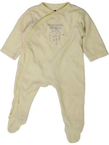 Pijama de 1 pieza unisex GRAIN DE BLÉ beige 6 meses invierno #1401800_1