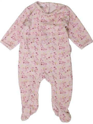 Pyjama 1 pièce fille VERTBAUDET rose 6 mois hiver #1401802_1