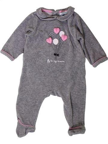 Pijama de 1 pieza niña OKAIDI violeta 6 meses invierno #1401803_1