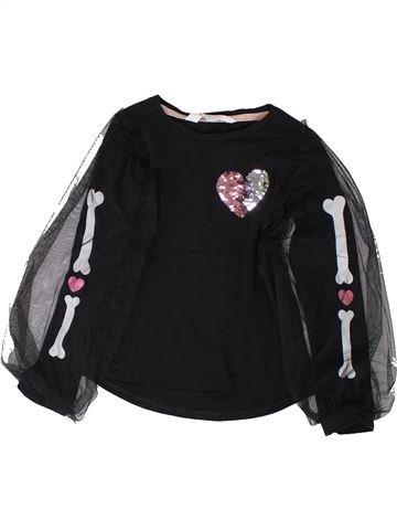 T-shirt manches longues fille H&M noir 6 ans hiver #1401820_1