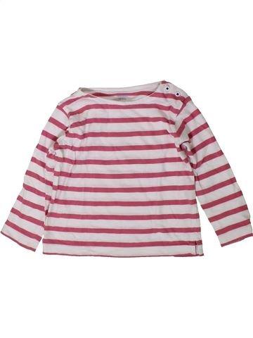T-shirt manches longues fille BOUT'CHOU violet 18 mois hiver #1401895_1