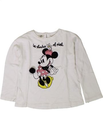 T-shirt manches longues fille ZARA blanc 4 ans hiver #1402010_1