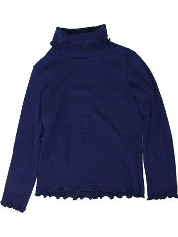T-shirt col roulé fille CYRILLUS bleu 6 ans hiver #1402048_1