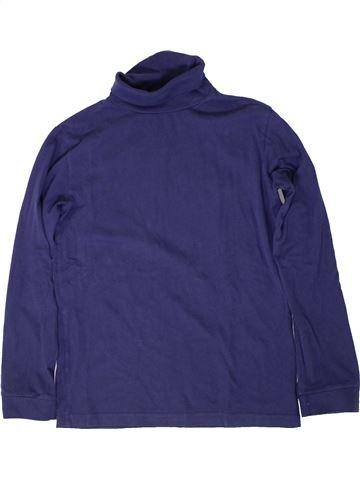 Camiseta de cuello alto niña MONOPRIX azul 12 años invierno #1402053_1