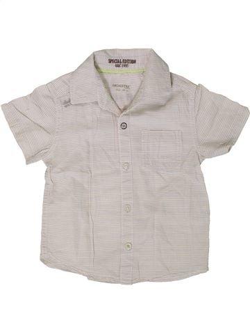 Chemise manches courtes garçon ORCHESTRA blanc 3 ans été #1402075_1