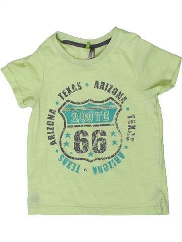 T-shirt manches courtes garçon ORCHESTRA vert 2 ans été #1402079_1