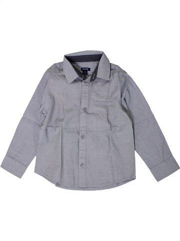 Camisa de manga larga niño KIABI gris 4 años invierno #1402083_1