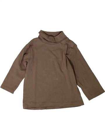 T-shirt col roulé garçon KIABI marron 18 mois hiver #1402096_1