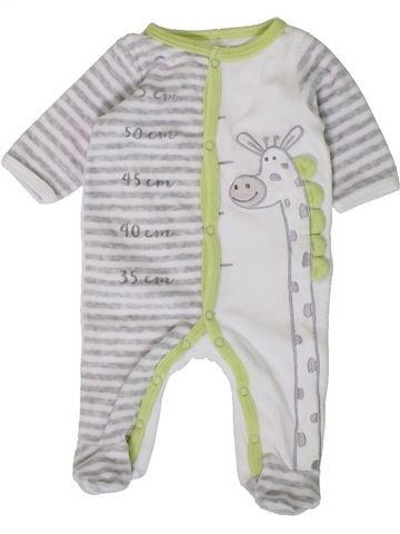 Pijama de 1 pieza niño GEMO blanco 1 mes invierno #1402099_1