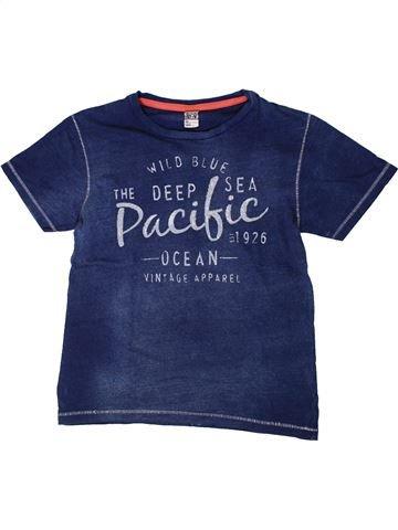 T-shirt manches courtes garçon TAPE À L'OEIL bleu 10 ans été #1402114_1