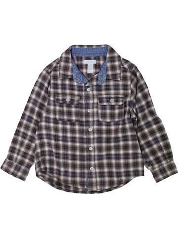 Chemise manches longues garçon OKAIDI gris 3 ans hiver #1402131_1