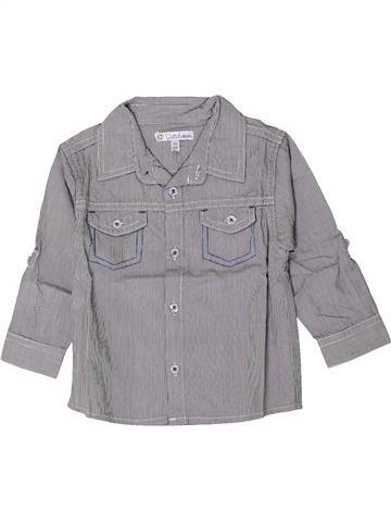 Camisa de manga larga niño KIABI gris 18 meses invierno #1402136_1