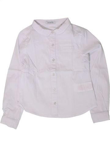 Blusa de manga larga niña OKAIDI blanco 5 años invierno #1402157_1