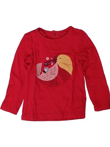 T-shirt manches longues fille CATIMINI rouge 2 ans hiver #1402275_1