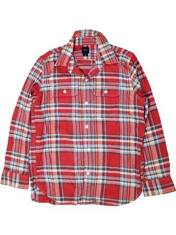 Chemise manches longues garçon GAP marron 10 ans hiver #1402312_1