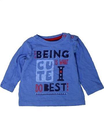 T-shirt manches longues garçon DUNNES STORES bleu 6 mois hiver #1402354_1