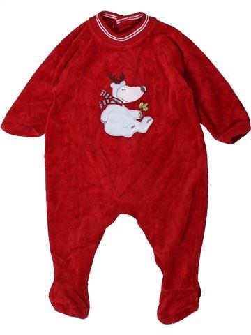 Pijama de 1 pieza niño MARKS & SPENCER rojo 3 meses invierno #1402387_1