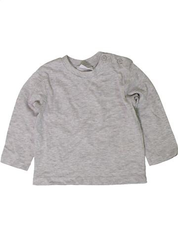 Camiseta de manga larga niño F&F gris 6 meses invierno #1402404_1