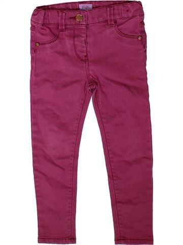 Jean fille F&F violet 3 ans hiver #1402483_1