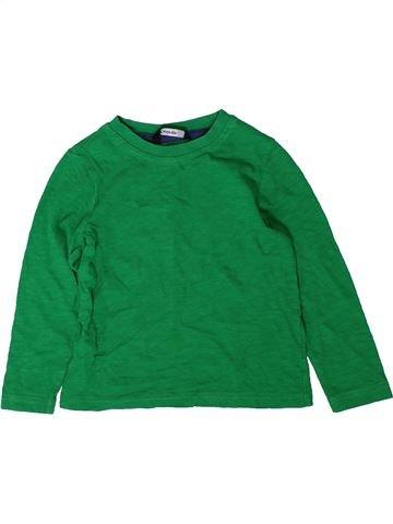 T-shirt manches longues garçon GEORGE vert 18 mois hiver #1402533_1